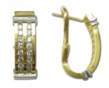 Diamond Cuff Earrings 14K Two Tone Gold 0.70 cts 01059E-60