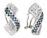 Diamond Earrings 14K White Gold 2.85 cts. A12-E0117-WB