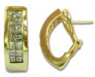 Diamond Cuff Earrings 14K Yellow Gold 1.80 cts. 5J5012