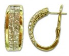 Diamond Cuff Earrings 14K Yellow Gold 4.00 cts. 5J5052