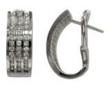 Diamond Cuff Earrings 14K White Gold 1.26 cts. 6J6290E-62W