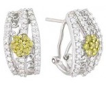 Diamond Cuff Earrings 14K White Gold 1.70 cts A74-E0162