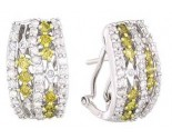 Diamond Cuff Earrings 14K White Gold 2.00 cts A74-E0165