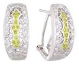Diamond Cuff Earrings 14K White Gold 0.70 cts A74-E0166