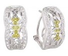 Diamond Cuff Earrings 14K White Gold 0.60 cts A74-E0167