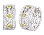 Diamond Cuff Earrings 14K White Gold 1.10 cts A74-E0171