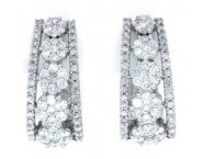 Diamond Cuff Earrings 14K White Gold 2.00 ct. GD-39234