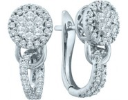Diamond Cuff Earrings 14K White Gold 0.76 cts. GD-45670