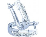 Diamond Cuff Earrings 10K White Gold 0.20 cts. GD-46617