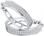 Diamond Cuff Earrings 10K White Gold 0.20 cts. GD-50080