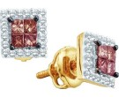 Brown Diamond Fashion Earrings 14K Yellow Gold 0.33 cts. GD-51046