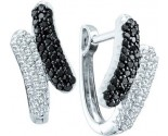 Diamond Cuff Earrings 14K White Gold 0.50 cts. GD-51076