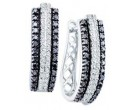 Diamond Cuff Earrings 14K White Gold 1.03 cts. GD-51612
