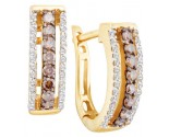 Diamond Cuff Fashion Earrings 14K Yellow Gold 0.48 cts. GD-51621