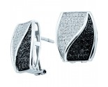 Diamond Cuff Earrings 14K White Gold 1.00 ct. GD-51940