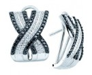 Diamond Cuff Earrings 14K White Gold 1.50 cts. GD-51942