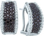 Diamond Cuff Earrings 14K White Gold 1.51 cts. GD-53289
