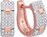 Diamond Fashion Earrings 10K Rose Gold 0.25 cts. GD-88406