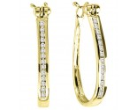 Diamond Cuff Earrings 10K Yellow Gold 0.20 cts. GS-21139Y