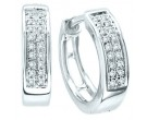Diamond Cuff Earrings 10K Gold 0.05 cts. GS-22390