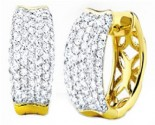 Diamond Cuff Earrings 14K Yellow Gold 2.00 cts. S27-10