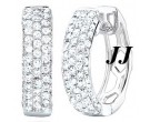Diamond Cuff Earrings 14K White Gold 1.30 cts. S27-2