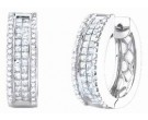 Diamond Cuff Earrings 14K White Gold 1.80 cts. S40-8