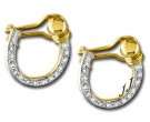 Diamond Cuff Earrings 14K White Gold 0.35 cts. S6-8