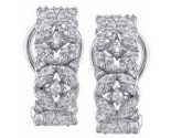 Diamond Cuff Earrings 14K White Gold 0.60 cts. S7-11