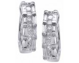 Diamond Cuff Earrings 14K White Gold 1.65 cts. S7-12
