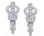 Diamond Cuff Earrings 14K White Gold 0.50 cts. S7-9