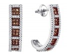 Ladies Diamond Fashion Earrings 10K White Gold 0.95 cts. GD-87063