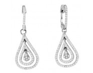 Diamond Fashion Earrings 14K White Gold 0.50 cts. CL-01092