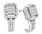 14K White Gold Diamond Fashion Earrings 0.50 cts. CL-04642