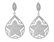 Diamond Fashion Earrings 14K White Gold 1.55 cts. CL-06982
