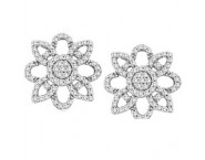 Diamond Fashion Earrings 14K White Gold 0.50 cts. CL-07103