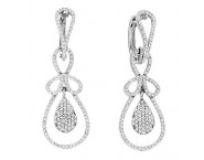 Diamond Fashion Earrings 14K White Gold 1.00 ct. CL-16882