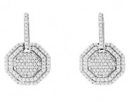 Diamond Fashion Earrings 14K White Gold 0.45 cts. CL-35982 [CL-35982]