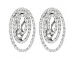14K White Gold Diamond Fashion Earrings 0.77 cts. CL-38781