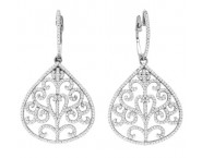 Diamond Fashion Earrings 14K White Gold 1.28 cts. CL-53092 [CL-53092]