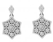 Diamond Fashion Earrings 14K White Gold 0.60 cts. CL-66982