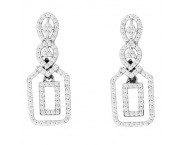 Diamond Fashion Earrings 14K White Gold 0.52 cts. CL-69982