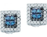 Diamond Fashion Earrings 14K White Gold 0.33 ct. GD-28524