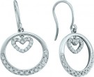 Ladies Diamond Heart Earrings 14K White Gold 0.26 cts. GD-39908