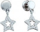 Diamond Star Earrings 10K White Gold 0.21 cts. GD-46621