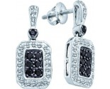 Ladies Diamond Fashion Earrings 14K White Gold 0.26 cts. GD-51081