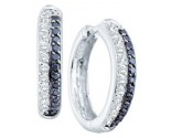 Diamond Fashion Earrings 14K White Gold 0.70 cts. GD-51613