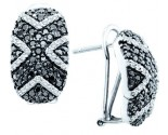 Black Diamond Fashion Earrings 14K White Gold 1.75 cts. GD-51944