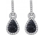 Diamond Fashion Earrings 10K White Gold 1.80 cts. GD-57334