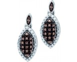 Diamond Fashion Earrings 10K White Gold 0.20 cts. GD-58293
